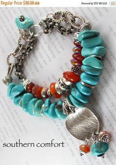 ON SALE carnelian bracelet turquoise bracelet by soulfuledges Bohemian Bracelets, Boho Jewelry, Beaded Bracelets, Necklaces, Bracelet Turquoise, Amethyst Bracelet, Strand Bracelet, Carnelian, Anklets