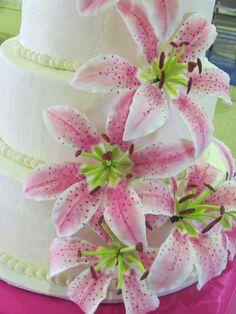 gum paste stargazer lillies