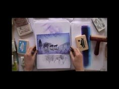 ▶ Creating reflections - a Lavinia Stamps tutorial - YouTube (Very, very interesting/clever)