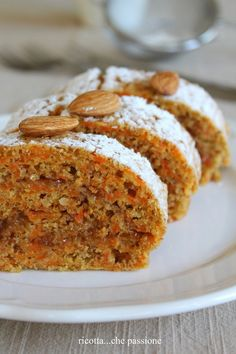 what a passion: wholemeal roll with carrots and orange marmalade Ricotta . what a passion: wholemeal roll with carrots and orange marmalade Ricotta, Sweet Recipes, Cake Recipes, Dessert Recipes, Italian Desserts, Italian Recipes, Sweet Light, My Favorite Food, Favorite Recipes