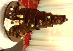 Chocolate Wrapped Wedding Cake With Truffles and Figures