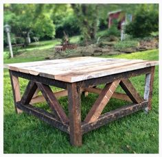 """***Please contact us first for accurate shipping rates before purchasing this piece*** This rustic coffee table is 32""""x 32"""" and is made using repurposed barn wood. The table is made to order and can b"""