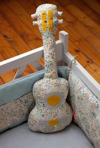 Someone musical please have a kid so i can make this oh so cute sewn guitar and matching bedding. :)