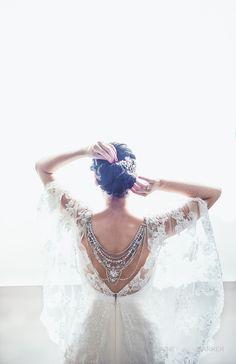 #EnzoaniRealBride Ciara in Enzoani Jasmine wedding dress // Irish Wedding Blog