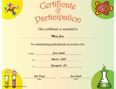 Science Fair Certificates Of Participation Pdf - √ 20 Science Fair Certificates Of Participation Pdf ™, Educational Products Inc 1 800 365 5345 Birth Certificate Template, Printable Certificates, Award Certificates, Printable Worksheets, Printables, Science Fair Projects, Science Lessons, Science Ideas, Manualidades