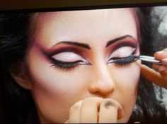 Elvira eye make-up from a Face Off challenge #faceoff #sopretty