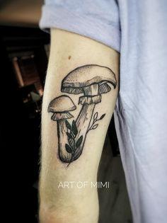 Work by Art of Mimi #illustration #mushrooms #mushroomtattoo #dotwork #artofmimi