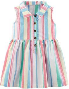 Carter's Baby Girl Striped Henley Dress