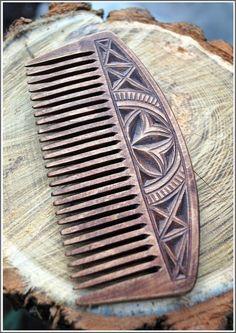 Wood comb  wooden comb  wooden hairbrush  wood hair by WoodCarv