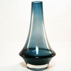 Glas Vase • Riihimäen lasi oy Finland • Tamara Aladin • numeriert 1379