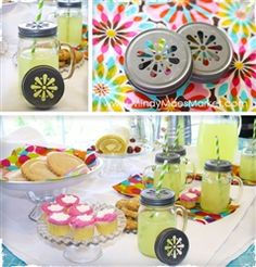 I need these!  Mason jar lids for parties!! @Lauren Johnson....check it!