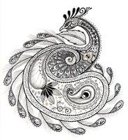 Paisley Peacock by ~Ladyegg on deviantART