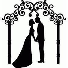 Silhouette Design Store - View Design wedding couple and arch Silhouette Design, Silhouette Cameo, Couple Silhouette, Wedding Silhouette, Silhouette Studio, Cricut Wedding, Wedding Cards, Kirigami, Scan And Cut