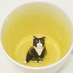 Fluffy Black Tuxedo Cat Surprise Mug this guy looks like my Sylvester!