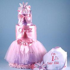 Baby's First Birthday Tutu Diaper Cake