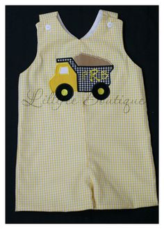 Yellow Gingham Jon Jon Shortall Romper with by lillifeeboutique, $42.99
