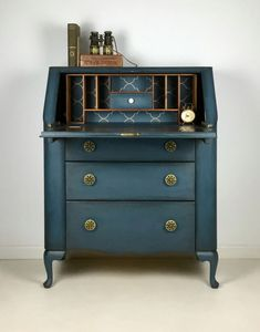 Vintage Lebus Painted Writing Bureau