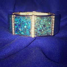 Bracelet with rhinestones Lia Sophia bracelet with rhinestones and blue mother of pearl. Lia Sophia Jewelry Bracelets