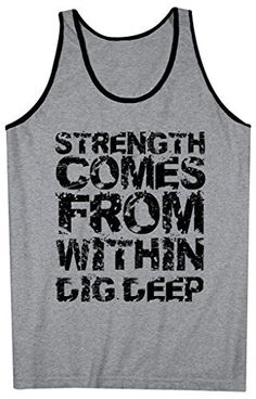 8f7a01a2364fc Shirts By Sarah Men s Workout Tank Top Strength From Within Tanks Saying  Tops