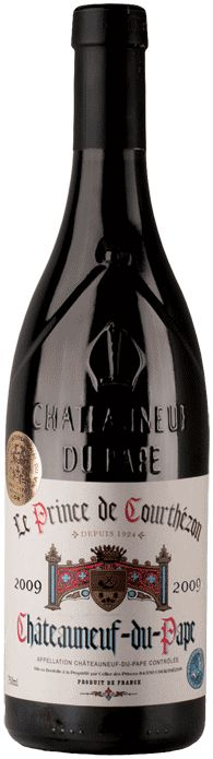 Chateauneuf du Pape- fantastic French wine. My Husband and I went to the wine store where they make this and brought it home from  France.