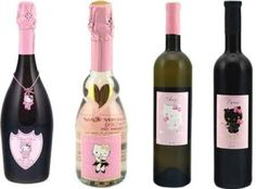 Hello Kitty just became legal! And if you are of legal drinking age you can enjoy a drink of the pretty kitty. Hello Kitty wine's come in . Hello Kitty Wine, Hello Kitty Themes, Cat Party, Here Kitty Kitty, Yummy Drinks, Kid Drinks, Sanrio, Guinness, Wines