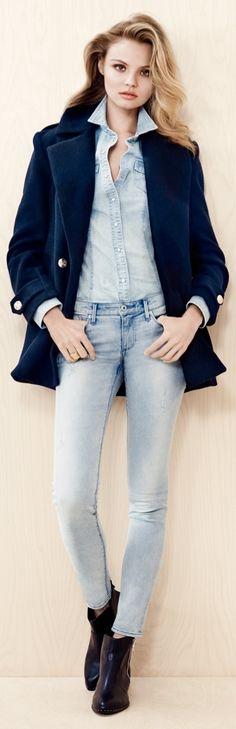 Magdalena Frackowiak Wears Denim for H&M