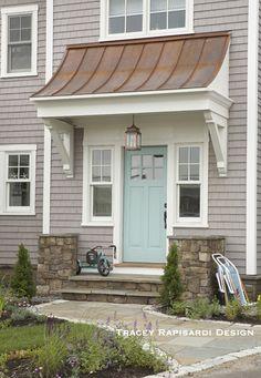 Blue front door: Coastal Living Idea Cottage