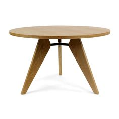 Gueridon Round Dining Table - Jean Prouve Replica - Round - Natural Ash