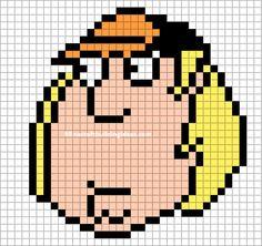 Minecraft Pixel Art Templates: Chris Griffin (family guy)