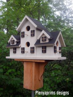 Birdhouse.4 nest folk art primitives bird house.  | Home & Garden, Yard, Garden & Outdoor Living, Bird & Wildlife Accessories | eBay!