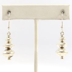Silver Navajo Pearl Earrings