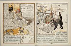 Het leelijke jonge eendje, pag. 20-1: naar het sprookje / van H. C. Andersen ; geteekend en gelithographeerd door T. van Hoytema,Amsterdam, C.M. van Gogh, 1893