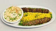 Beef Kufta Kebab Plate by Mediterranean City Grill in Los Angeles, CA