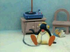 Hot GIF music, headphones, pingu, listening to music Cartoon Memes, Cartoon Icons, Cute Cartoon, Funny Memes, Cartoons, Pingu Gif, Pingu Pingu, Arte Bob Marley, Pingu Memes
