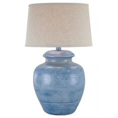 """Anthony California 28"""" H Table Lamp with Empire Shade & Reviews 
