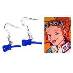 magic school bus ms frizzle tv show dangle earrings  book character