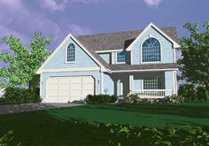 Eplans Country House Plan - Roomy Two-Story Home - 2342 Square Feet and 5 Bedrooms(s) from Eplans - House Plan Code HWEPL67062