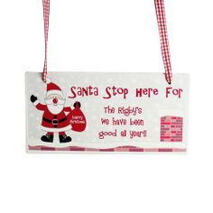 Personalised Rooftop Santa Stop Here Wooden Christmas Sign  from Personalised Gifts Shop - ONLY £12.99