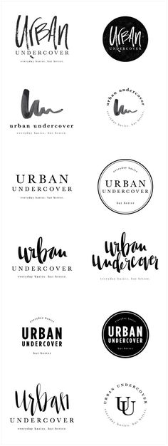 Brand Launch: Urban Undercover - Salted Ink Design Co. | logo concepts | logo design, logo, designer, brand designer, black and white, hand lettered, hand lettered, handwritten, calligraphy | www.saltedink.com http://inkbotdesign.com/
