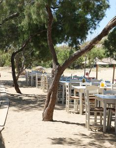 Mykonos, Taverna, Griechenland, Strand