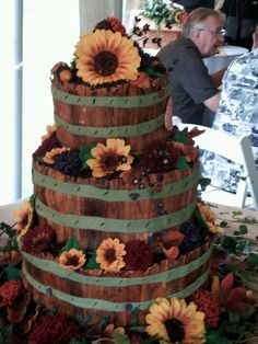This was the country wedding cake I did for my dear Kristin!