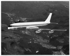 """Boeing 707 """"Stratoliner"""", 3rd 707-121 production airplane, N709PA, later delivered to Pan Am."""