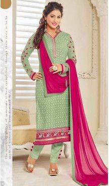 Parrot Green Color Georgette Straight Cut Style Pakistani Formal Dresses #casual, #salwar, #kameez, #online, #trendy, #shopping, #latest, #collections, #summer,#shalwar, #hot, #season, #suits, #cheap, #indian, #womens, #dress, #design, #fashion, #boutique, #heenastyle, #clothing, #cotton, #printed, #materials, @heenastyle