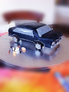 Supernatural Car Cake with Weapons by Ashley (my talented cake making friend:)