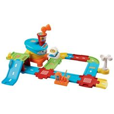 It will go with the vtech Smart Wheels train set we got her.  Go! Go! Smart Wheels Airport Playset