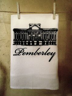Pemberley Dish Towel  Jane Austen by Brookish on Etsy, $12.00
