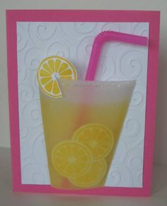 lemonade, same card as the others, I just liked the pink background and straw