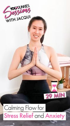Join Jacqui as she guides you through a 29 minute Calming Flow for Stress Relief and Anxiety. Stress Relief, Current Events, Calming, Anxiety, Flow, Camisole Top, Join, Tank Tops, Halter Tops