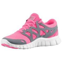 Pink and gray Nike free run!!!