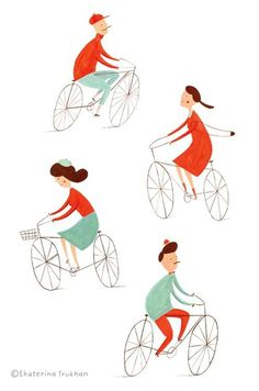 Cycling illustration.